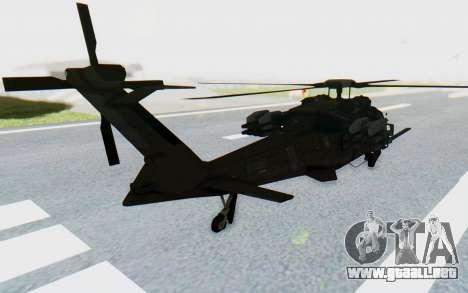 MGSV Phantom Pain UTH-66 Blackfoot para GTA San Andreas left