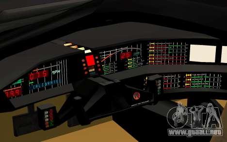 K.I.T.T. 2000 Pilot para GTA San Andreas vista hacia atrás