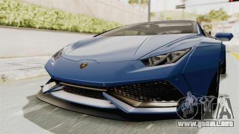 Lamborghini Huracan Stance Style para la visión correcta GTA San Andreas
