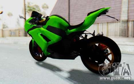 Kawasaki Ninja 250 Abs Streetrace para GTA San Andreas vista posterior izquierda