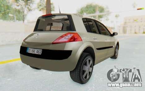 Renault Megane 2 para GTA San Andreas left
