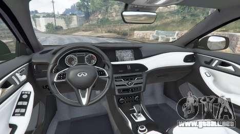 GTA 5 Infiniti Q30 2016 vista lateral derecha