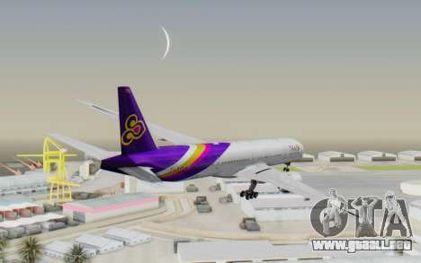 Boeing 777-300ER Thai International Airways para la visión correcta GTA San Andreas