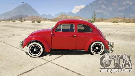 GTA 5 1963 Volkswagen Beetle 1.0.1 vista lateral izquierda