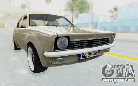 Opel Kadett C Coupe para la visión correcta GTA San Andreas
