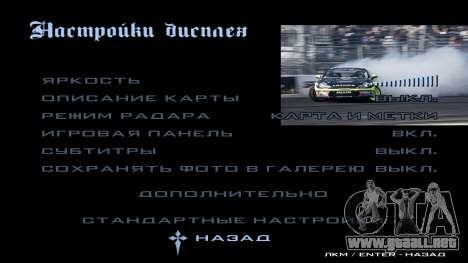 New menu para GTA San Andreas décimo de pantalla