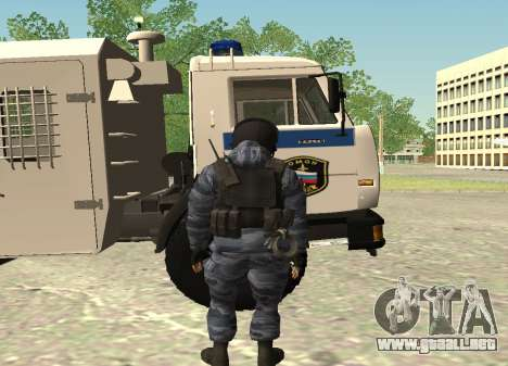 La policía antidisturbios-Berkut (Rusia) para GTA San Andreas segunda pantalla