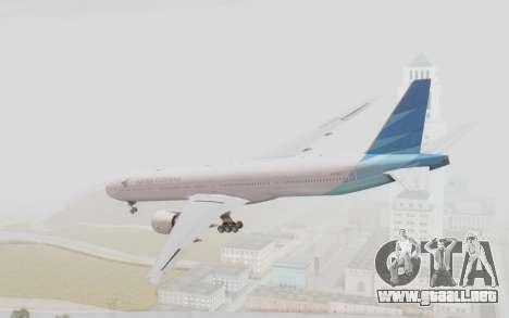 Boeing 777-300ER Garuda Indonesia para GTA San Andreas left