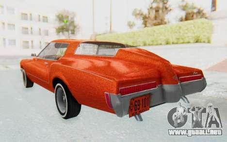 Buick Riviera 1972 Boattail Lowrider para GTA San Andreas left