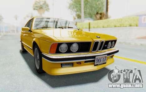 BMW M635 CSi (E24) 1984 HQLM PJ2 para GTA San Andreas vista posterior izquierda