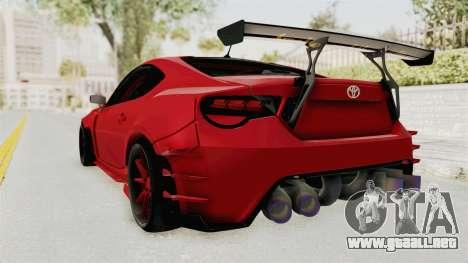 Toyota GT86 Drift Edition para GTA San Andreas left