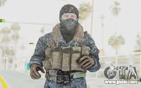 COD BO Russian Soldier Winter Balaclava para GTA San Andreas