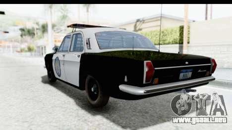 ГАЗ 24 de Policía de la Patrulla de la Carretera para GTA San Andreas left