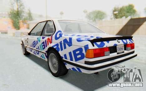 BMW M635 CSi (E24) 1984 HQLM PJ1 para las ruedas de GTA San Andreas