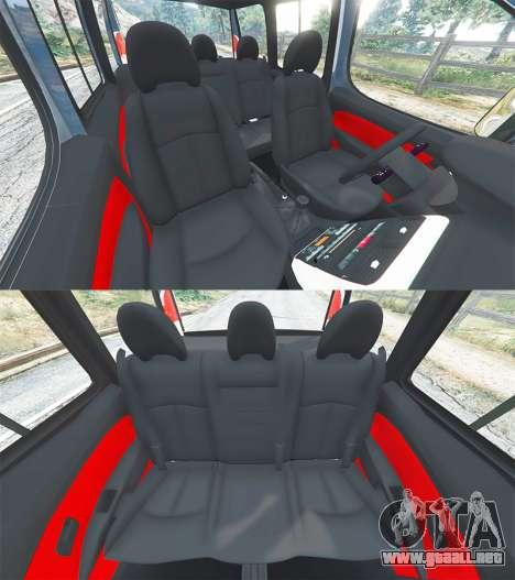 GTA 5 Fiat Doblo delantero derecho vista lateral