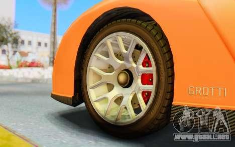 GTA 5 Grotti Cheetah IVF para GTA San Andreas vista hacia atrás