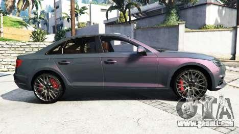 GTA 5 Audi A4 2017 [add-on] v1.1 vista lateral izquierda