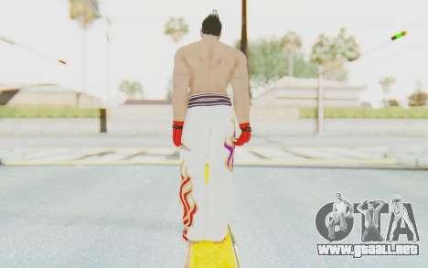 Kazuya Mishima Skin para GTA San Andreas tercera pantalla