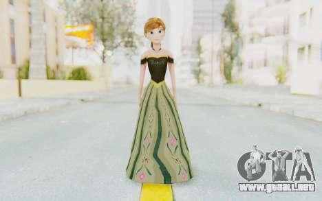 Frozen - Anna Coronation Dress para GTA San Andreas segunda pantalla