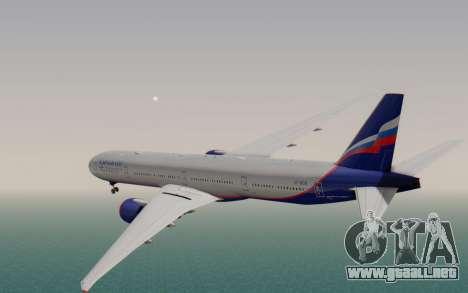 Boeing 777-300ER Aeroflot para GTA San Andreas left