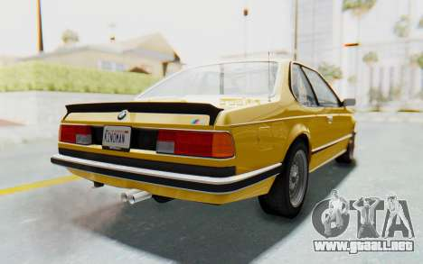 BMW M635 CSi (E24) 1984 HQLM PJ2 para GTA San Andreas left
