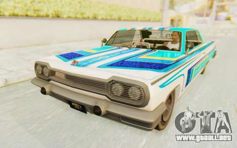 GTA 5 Declasse Voodoo Alternative v2 para vista lateral GTA San Andreas
