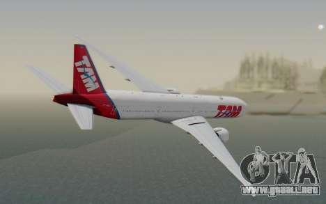 Boeing 777-300ER TAM líneas Aéreas para GTA San Andreas left
