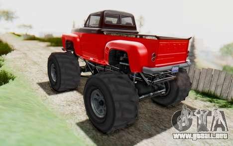 GTA 5 Vapid Slamvan XL v2.1 para GTA San Andreas left