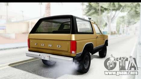 Ford Bronco 1980 Roof IVF para GTA San Andreas left
