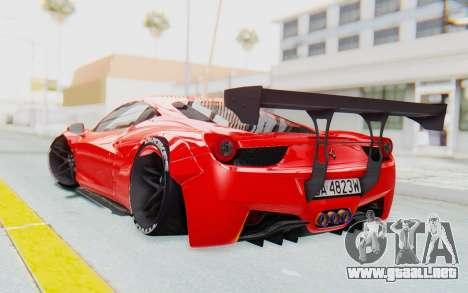 Ferrari 458 Liberty Walk para GTA San Andreas left