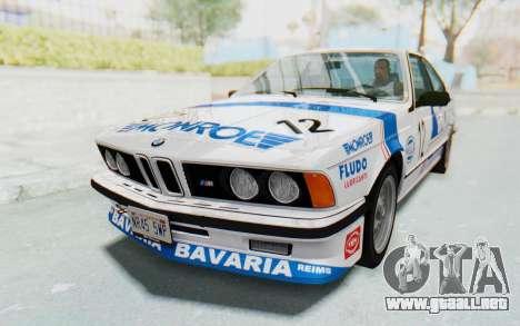 BMW M635 CSi (E24) 1984 HQLM PJ3 para la vista superior GTA San Andreas