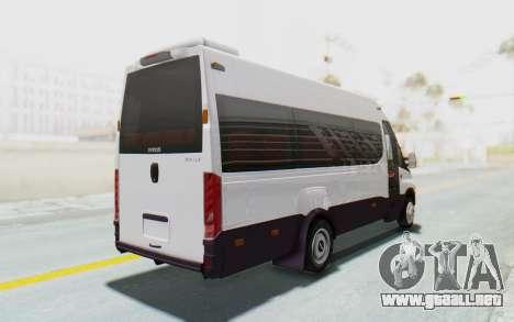 Iveco Daily Minibus 2015 para GTA San Andreas vista posterior izquierda