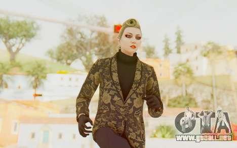 GTA 5 DLC Finance and Felony Female Skin para GTA San Andreas