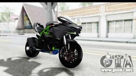 Kawasaki Ninja H2R Black para la visión correcta GTA San Andreas
