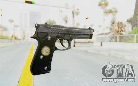 Tariq Iraqi Pistol Back v1 Silver para GTA San Andreas segunda pantalla