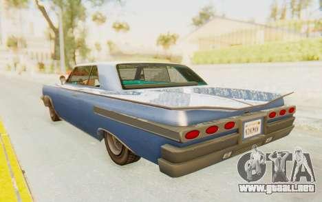 GTA 5 Declasse Voodoo Alternative v2 PJ para GTA San Andreas left