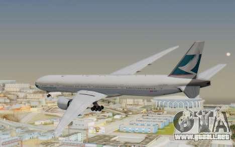 Boeing 777-300ER Cathay Pacific Airways v1 para la visión correcta GTA San Andreas
