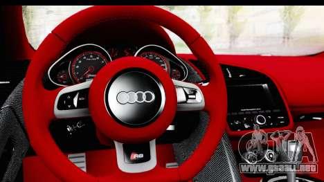 Audi R8 5.2 V10 Plus LB Walk para la visión correcta GTA San Andreas