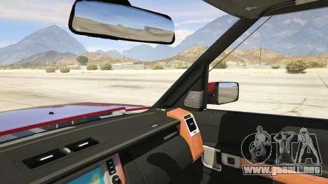 GTA 5 Land Rover Discovery 4 vista lateral trasera derecha