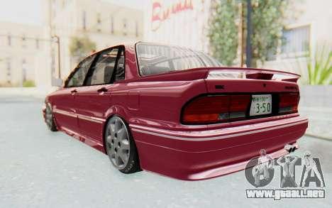 Mitsubishi Galant VR4 1992 para GTA San Andreas vista posterior izquierda