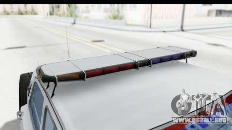 ГАЗ 24 de Policía de la Patrulla de la Carretera para vista lateral GTA San Andreas