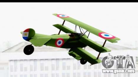Fokker DR1 Old Paraguay Air Force para la visión correcta GTA San Andreas