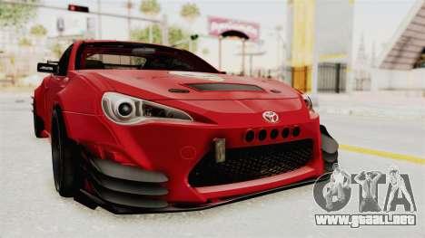 Toyota GT86 Drift Edition para la visión correcta GTA San Andreas
