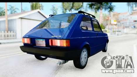 Fiat 147 Spazio TR Stock para la visión correcta GTA San Andreas