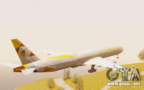 Boeing 777-300ER Etihad Airways para la visión correcta GTA San Andreas