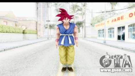 Dragon Ball Xenoverse Goku GT Adult SSG para GTA San Andreas segunda pantalla