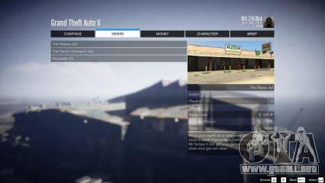 GTA 5 Heist Project 0.4.32.678 sexta captura de pantalla