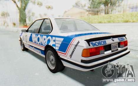 BMW M635 CSi (E24) 1984 HQLM PJ3 para vista inferior GTA San Andreas