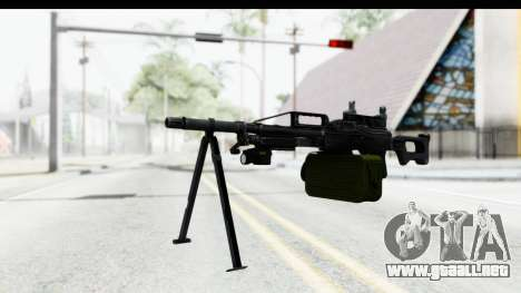 Kalashnikov PK (PKM) Iron Sights para GTA San Andreas segunda pantalla
