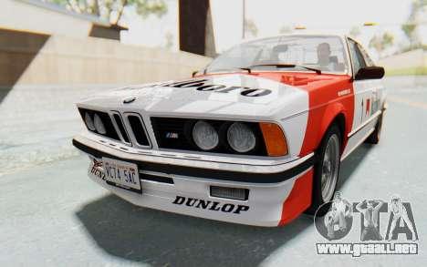 BMW M635 CSi (E24) 1984 HQLM PJ1 para GTA San Andreas vista hacia atrás